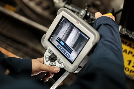 工业内窥镜清晰呈现检测图像
