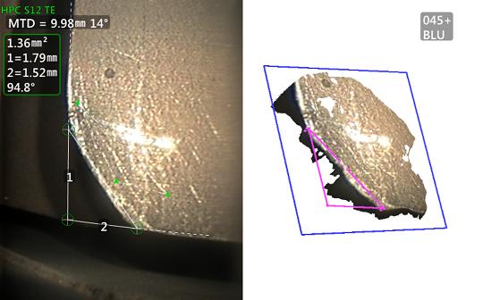 工业内窥镜检测-材料丢失测量