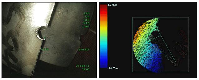 进口工业内窥镜检测搭载3D测量技术的优势:确定光标点的有效性